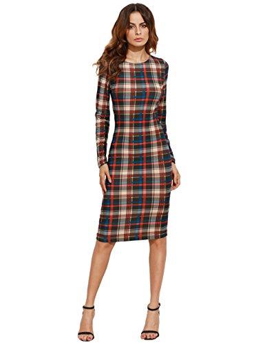 4e399e69481 MakeMeChic Women s Elegant Long Sleeve Wear to Work Business Cocktail  Pencil Dress - Fashion Trends Revealed