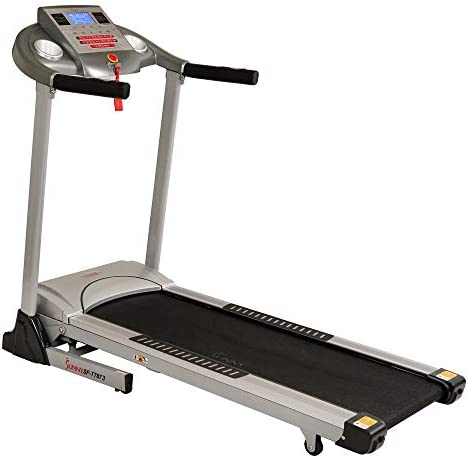 Sunny Health & Fitness Electric Folding Treadmill with Auto Incline 9