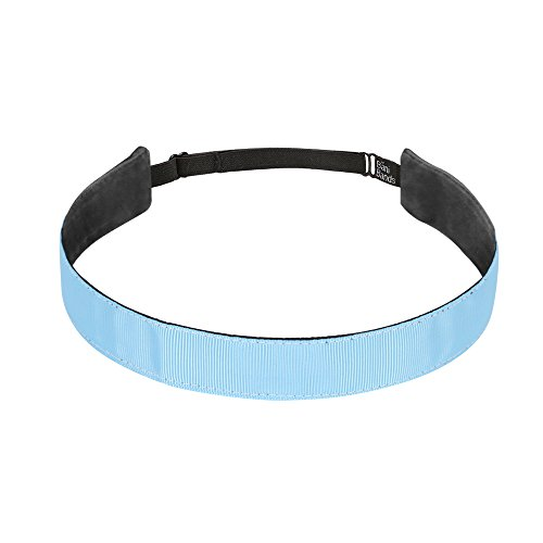 BaniBands Headbands for Women - Non Slip Adjustable Sports Head Bands - Made in USA - Perfect Headband for Active Women Stays in Place During Workout, Running, Yoga and More - Light Carolina Blue