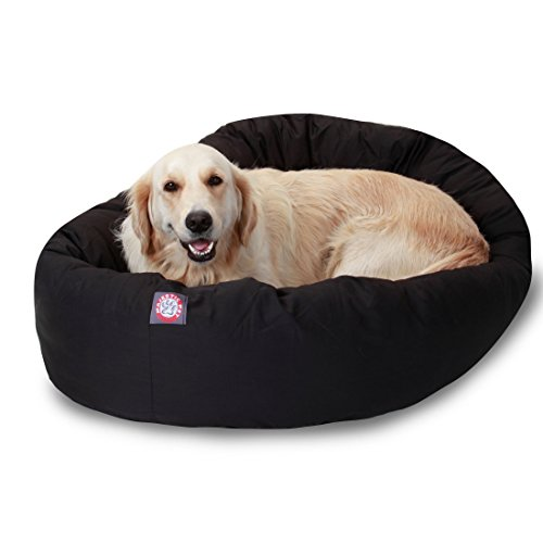 Majestic Pet Poly-Cotton Bagel Dog Bed for Dogs & Cats, Calming Round Donut Dog Bed Cuddler Washable Multiple Sizes… 1