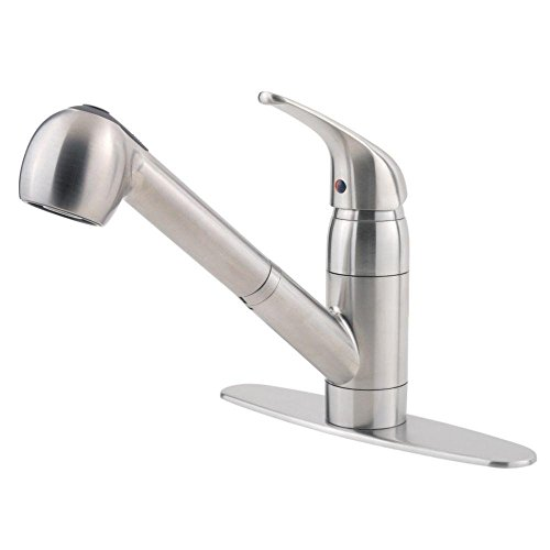 Pfister G13310SS Pfirst Series 1-Handle Pull-Out Kitchen Faucet in Stainless Steel, Water-Efficient Model