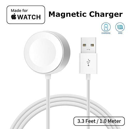 ATETION Watch Charger Pad and iWatch Magnetic USB Charging Cable for Series 1/2/3/4,Magnetic Charging Cable for Apple Watch