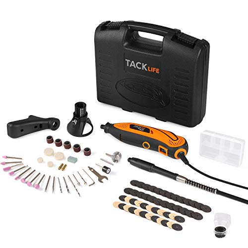 Rotary Tool Kit Variable Speed with Flex shaft, 80 Accessories, 3 Attachments and Carrying Case, Multi-functional for Around-the-House and Crafting Projects - RTD35ACL