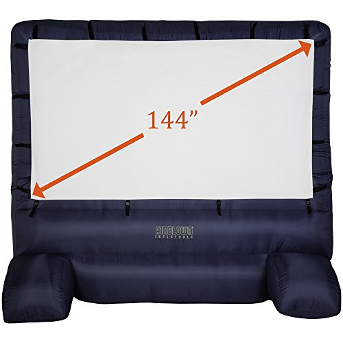 Gemmy 39127-32 Deluxe Airblown Movie Screen Inflatable with Storage Bag, 144' Screen 12 FT TALL x 11.5 WIDE