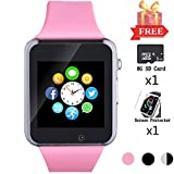 Smart Watch for Android Phones, Smartwatch Compatible with Bluetooth with SD SIM Card Slot Watch Phone Call Message Camera Pedometer for iOS (Partial Functions) Sweatproof for Kids Women Men