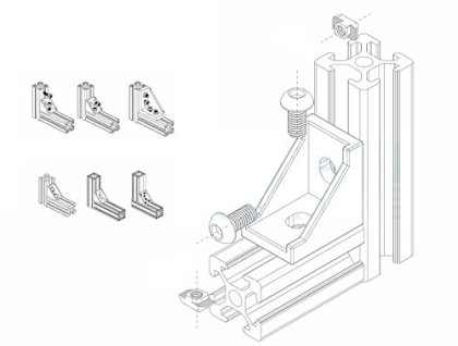 PZRT-2020-Series-Aluminum-Profile-Connector-Set-4pcs-Corner-Bracket8pcs-M5-x-10mm-T-Slot-Nuts-8pcs-M5x10mm-Hex-Socket-Cap-Screw-Bolt-for-6mm-Slot-Aluminum-Profile-Accessories