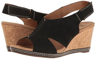 Clarks-Womens-Helio-Float-Wedge-Sandal-Black-Nubuck-75-M-US