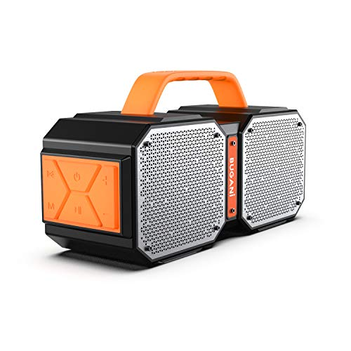 Bluetooth Speakers, Waterproof Outdoor Speakers Bluetooth 5.0,40W Wireless Stereo Pairing Booming Bass Speaker,2400 Minutes Playtime with 8000mAh Power Bank, Durable for Home Party,Camping(Black)