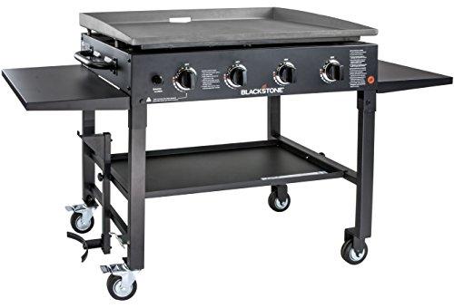 Blackstone 1554 Station-4-burner-Propane Fueled-Restaurant Grade-Professional 36 inch Outdoor Flat Top Gas Griddle Station-4-bur, 36' - 4 Burner, Grill