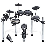 Alesis Surge Mesh Kit - Eight-Piece Electronic Drum Kit with Mesh Heads, Chrome Rack and Surge Drum Module including 40 Kits, 385 sounds, 60 Play Along Tracks and USB/MIDI Connectivity