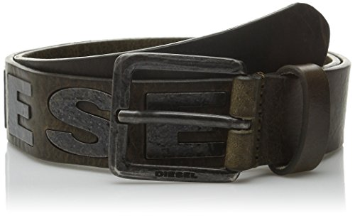 41qM3QwzQjL Hand treated leather belt Dark brass Diesel logo detail