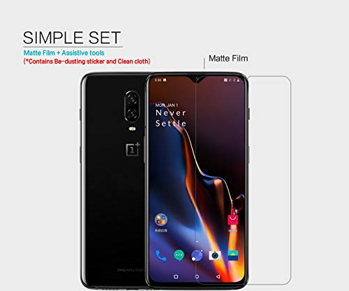 41qNcX5JU5L - Nillkin Screen Guard for OnePlus 6T One Plus 6 T (1+6) T Whole Set Version Matte Anti Glare Front + Camera Sticker
