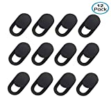 Webcam Cover Slide Blocker for Laptop Computer, MacBook Pro, iPad,iMac, Tablets PC, Echo Spot, Universal Camera Cover Sticker Protecting Your Privacy Security 12-Pack Black