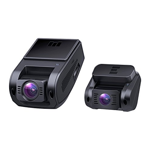 AUKEY Dual Dash Cam, 1080P HD Front and Rear Camera, 6-Lane 170° Wide-Angle Lens, Night Vision, G-Sensor, Dual-Port Car Charger