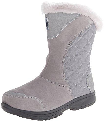 Columbia Women's ICE Maiden II Slip Snow Boot, Light Grey, Siberia Blue, 8 B US