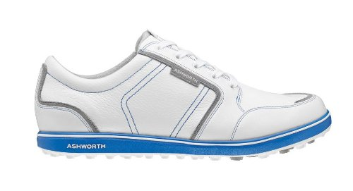 Ashworth Men's Cardiff ADC Spikeless White/Neutral Grey/Air Force Blue Golf Shoes White/Neutral Grey/Air Force Blue 11