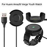Sodoop USB Data Sync Cable Dock Compatible for Xiaomi Huami Amazfit Verge Youth Watch A1808, Replacement Quick Charger Dock Charging for Amazfit Verge Youth Watch A1808,Black