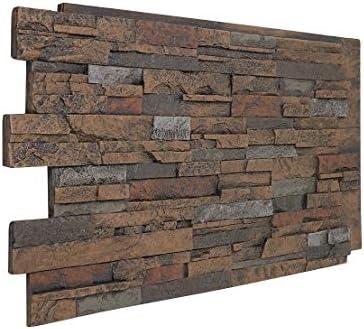 Faux Stone Veneer Wall Panel Veneer Stacked Stone Siding Durango Sedona Color 48 W X 24 H X 1 D Amazon Com