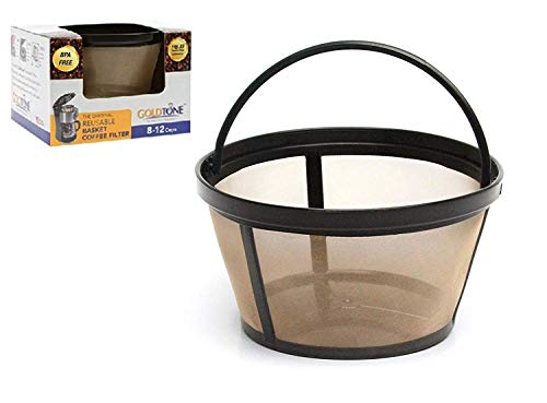 GOLDTONE - Filtro de café reutilizable de 8 a 12 tazas para cafeteras Mr. Coffee Makers y Brewers,...