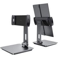 UPERFECT Portable Monitor Adjustable Stand, Adjustable Heavy Duty Aluminum Stand for Portable Monitor Tablet