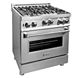 ZLINE 30 in. Professional 4.0 cu. ft. 4 Gas on Gas Range in Stainless Steel (RG30)