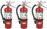 Amerex (3 Pack) B500, 5lb ABC Dry Chemical Class A B C Fire Extinguisher