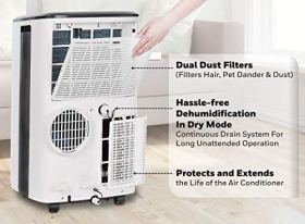 Honeywell-Compact-Portable-Air-Conditioner-wDehumidifier-Fan-Cools-Rooms-Up-to-350-SqFt-wDrain-Pan-Insulation-Tape-White