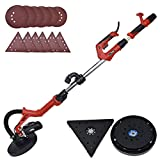 Drywall Sander - 6.5A Dual-Head Automatic Vacuum System,Variable Speed 1200-2500 RPM/12 Sanding Discs/Extendable Hand/Long Dust Hose Electric Drywall Sander