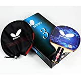 Butterfly 302 Chinese Penhold Table Tennis Racket Set - 1 Ping Pong Paddle - 1 Ping Pong Paddle Case - Gift Box - ITTF Approved