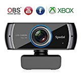 Spedal Full HD Webcam 1536p, Beauty Live Streaming Webcam, Computer Laptop Camera for OBS Xbox XSplit Skype Facebook, Compatible for Mac OS Windows 10/8/7