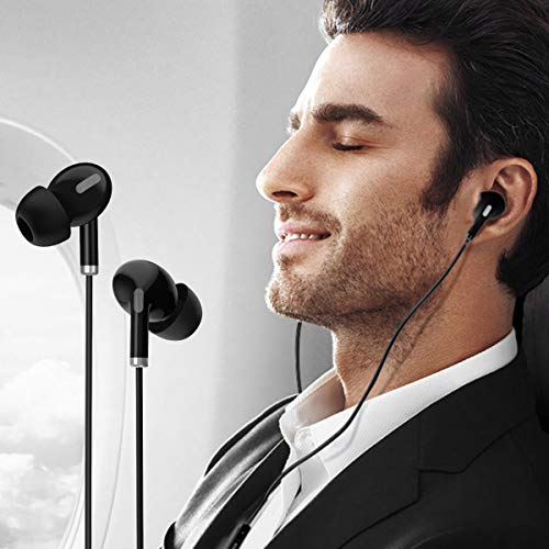 41qr2vXD9zL Portronics Conch Delta in-Ear Wired Earphone, 1.2m Tangle Free Cable, in-Line Mic, Noise Reduction, 3.5mm Aux Port and High Bass, for All Android & iOS Devices(Black)