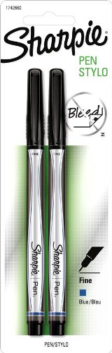Sharpie 1742660 Blue Fine Point Pen 2 Count