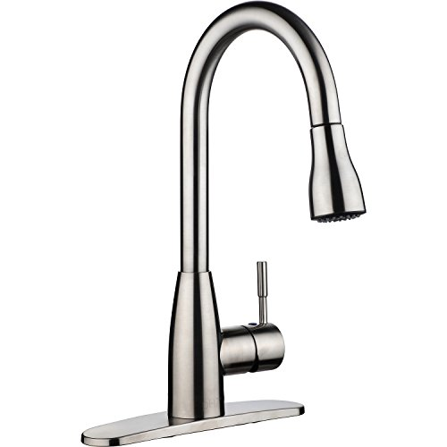 Kitmate KT0001 Kitchen Faucets, 16.3 x 8.2 x 10.2, Brushed Nickel