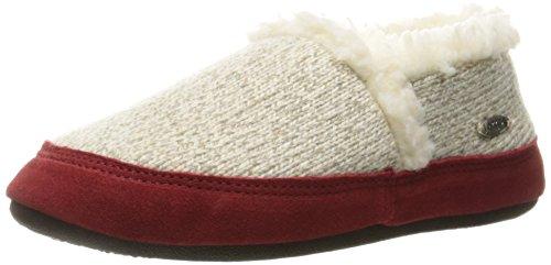 ACORN Women's Moc Ragg, Grey Ragg Wool, Small / 5-6