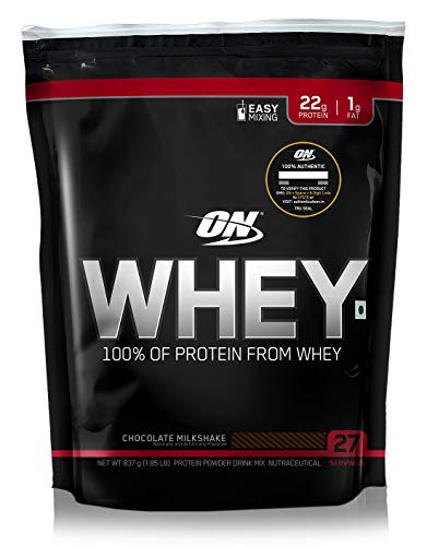 Optimum Nutrition (ON) 100% Whey Protein Powder – 1.85 lbs, 837 g (Chocolate Milkshake)