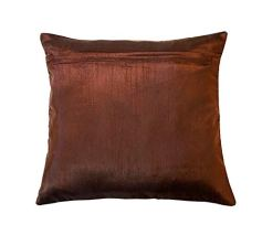 FAB-NATION-Cushion-Covers-16X16-Inches-Cotton-Jacquard-Fabric-Loom-Weave-Designer-Covers-16x16-Coffee