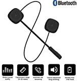 Motorcycle Bluetooth 5.0 Helmet Headset, Wireless walkie-Talkie, Music Call Control Hands-Free Microphone Dual Stereo Speaker Hands-Free Headset Black Electronic Phone for Travel