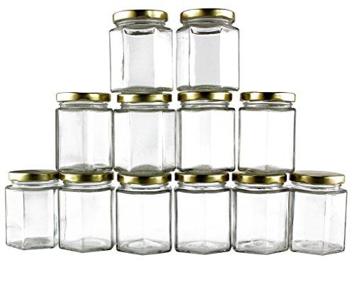 Hexagon Glass Jars