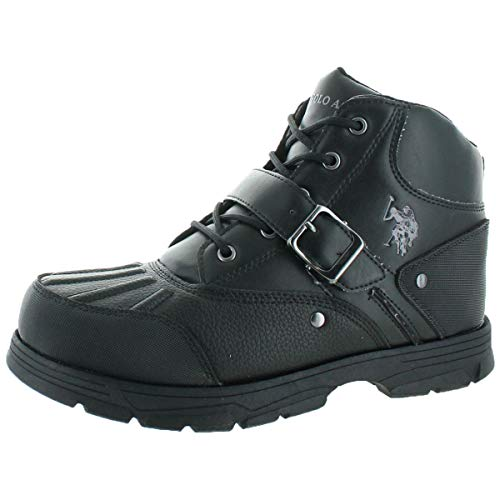 U.S. Polo Assn. Kedge Men's Buckle Duck Toe Boots Black Size 10.5