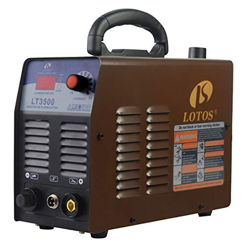 Lotos LT3500 35Amp Air Plasma Cutter, 2/5 Inch Clean Cut, 110V/120V Input with Pre Installed NPT Quick Connector, Portable & Easy Quick Setup Metal Cutter