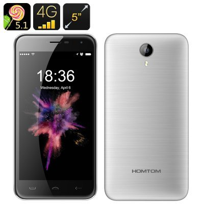 HOMTOM HT3 8GB, Network: 3G, 5.0 inch Android 5.1 MTK6580A Quad Core 1.3GHz, RAM: 1GB (Silver)