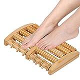 Dual Foot Massager Roller Large, Relieve Plantar Fasciitis, Stress, Heel, Arch Pain - The Original - Shiatsu Acupressure Relaxation. Full Instructions/Reflexology Chart. (Dual Foot)