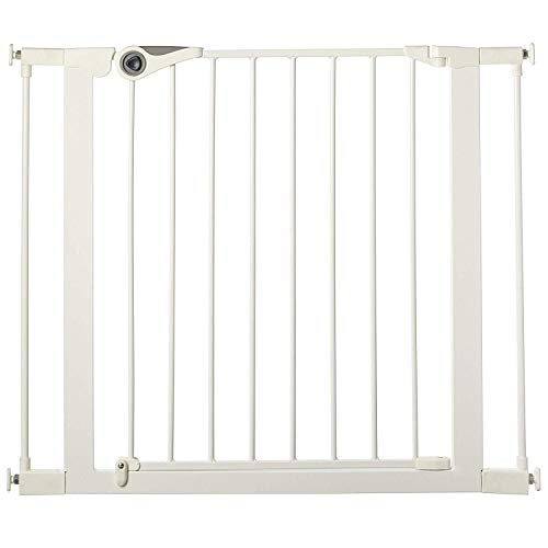 "North States 38.1"" Wide Essential Walk-Thru Gate: Ideal for securing hallways or doorways. Extra-Wide Doorway. Pressure Mount. Fits 29.8"" - 38.1"" Wide (30"" Tall, White)"