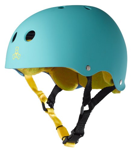 Triple Eight Sweatsaver Liner Skateboarding Helmet, Baja Teal Rubber, Medium