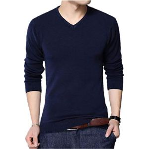 NanGate VISADA JAUNA Men Sweater V-Neck Mens Pullover Knitting Sweaters Men Sweater N6622
