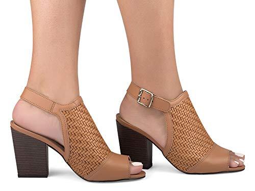 Sandália de salto médio , Tanara, Feminino