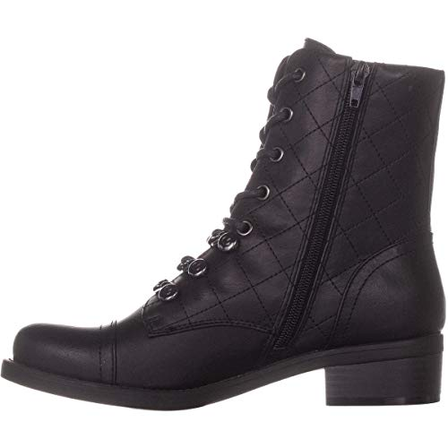 G by GUESS Womens Meera2 Closed Toe Mid-Calf Combat Boots, Black Ll, Size 9.0