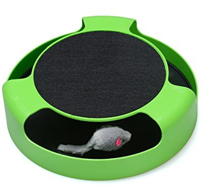 FYNIGO Cat Interactive Toys with a Running Mice and a Scratching...