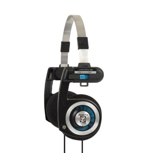 Koss Porta Pro auriculares de diadema con funda, Negro/Plateado, Mediano
