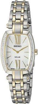 Seiko Women's SUP284 Tressia Analog Display Japanese Quartz Two Tone Watch
